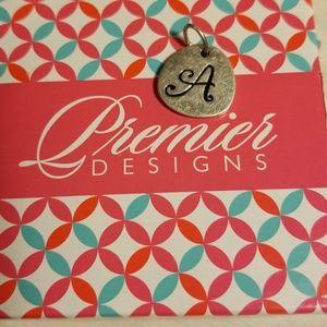 "Premier Designs letter ""A"" Charm NWT"